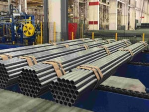 Steel tubes, pipes, bars, wires